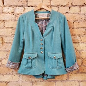 Nick & Mo Aquamarine Blazer/ Jacket